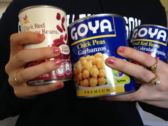 Bring nonperishable items — like canned beans — to the credit union's food drive in Teterboro.