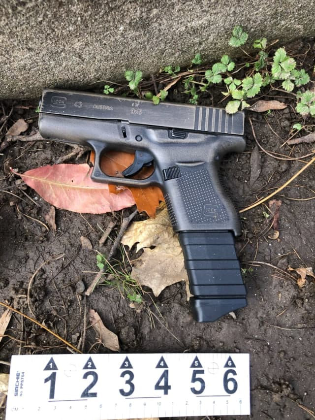 Police have recovered the gun used in a shooting that injured an innocent man driving home from work.