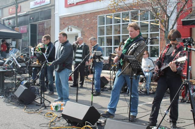 Dads' Night Band is shown performing at the Ridgewood 10th Annual Motorcycle Classic. Ridgewood Dad's Night is Friday and Saturday.