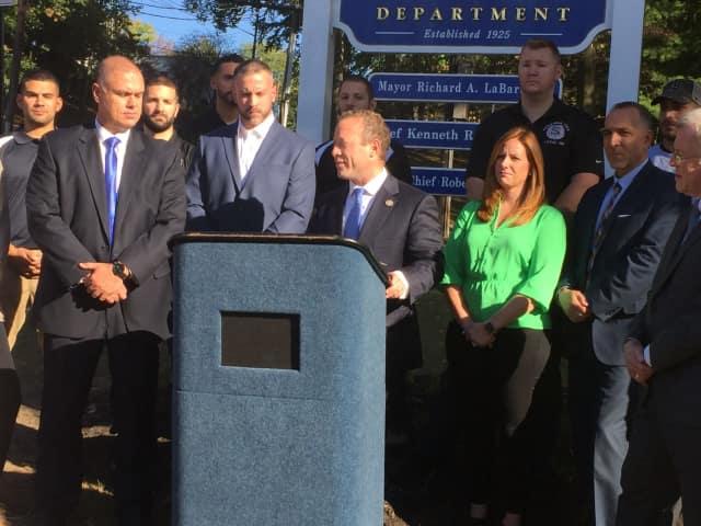 U.S. Rep. Josh Gottheimer endorses Paramus democrats MariaElena Bellinger and Joe Garcia. The Paramus PBA also endorsed the runningmates.