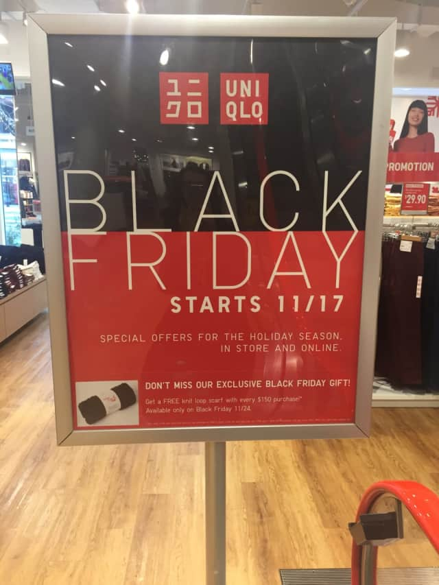 Uniglo in Paramus is ready for Black Friday.