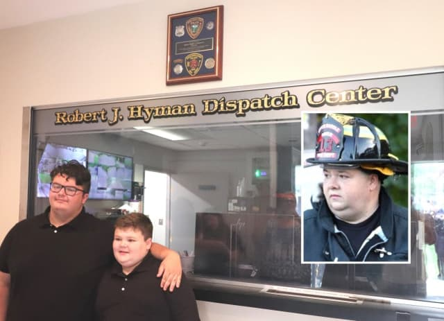Hyman's sons, Spencer (left) and Tanner.