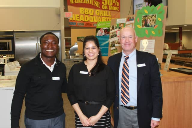 A Taste of Fairfield County, an event hosted by Norwalk's Family & Children's Agency's Junior Board of Advisors, has been hailed as a success. From left are, board vice-chairs Banji Iyun and Sherlene Rodriguez, and FCA President Robert Cashel.