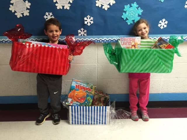Virginia Road School has been collecting toys for The Children's Hope Chest.