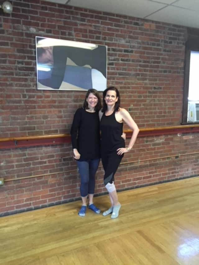 Susan Berman, left, and Wendy Kaufman, right, of Energie Barre in Larchmont.
