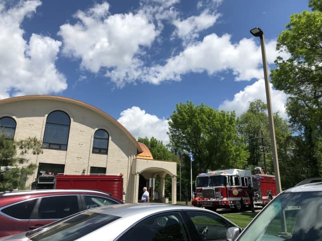 The Paramus hazardous materials team and fire department responded to the St. Athanasios Greek Orthodox Church to stop a leaking propane tank Thursday around 12:30 p.m.