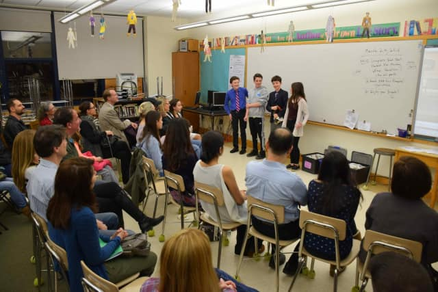Irvington Middle School seventh-graders demonstrated the power of media to impact social change when they presented their public service announcements during the fifth annual Irvington Middle School and Jacob Burns Film Center Movie Premiere