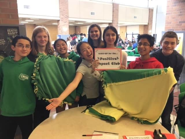 Students designed the blankets.