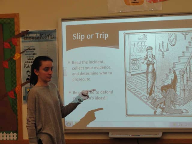 Eighth-grade English students at Irvington Middle School recently took part in a debate-style unit to learn how to argue a point in a debate.