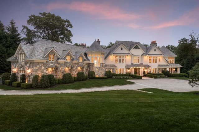 This Greenwich house is listed on Zillow at $11.4 million.