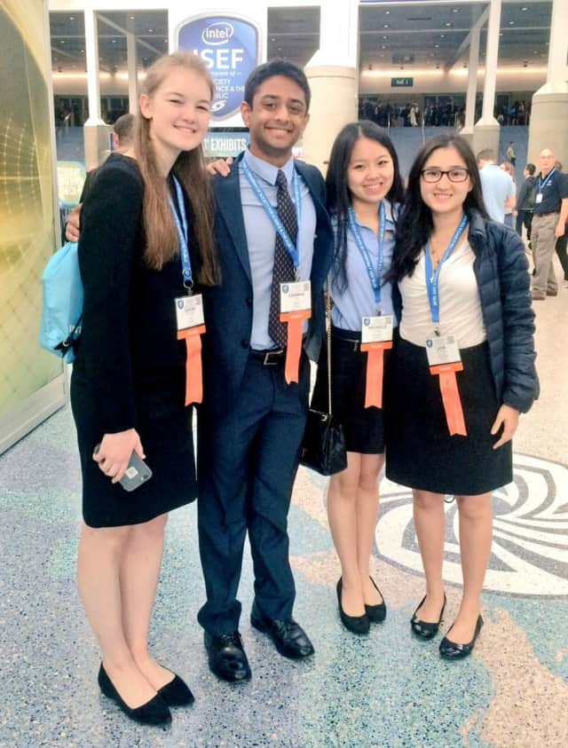 Four Ossining students won awards at an international science competition.
