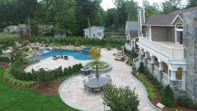 This Wyckoff home features a brand new cabana, pool (with a spa and party lights) and more.