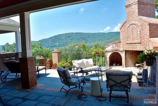 The house sits on more than 2.8 acres with views of the Ramapo Mountains.