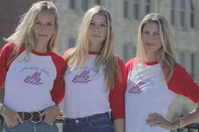From left: Meredith Melling, Molly Howard and Valerie Macaulay, La Ligne founders. Courtesy La Ligne.