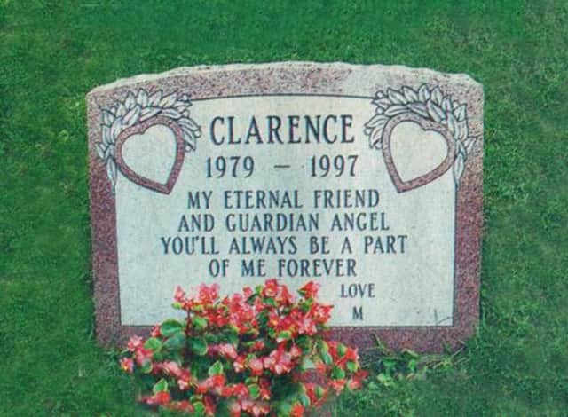 Mariah Carey's dog, Clarence, is buried at the Hartsdale Pet Cemetary.