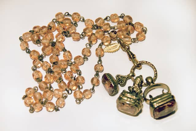 Czech beads and British fobs. Photograph by Julie Betts Testwuide.