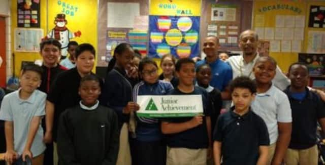 Curiale School sixth-graders participate in Junior Achievement programs funded by a grant from Fairfield County's Community Foundation.