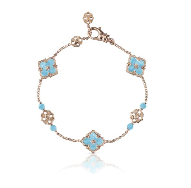 JAUBRA014618 – Opera Bracelet in 18-karat pink gold with turquoise, $6,100.