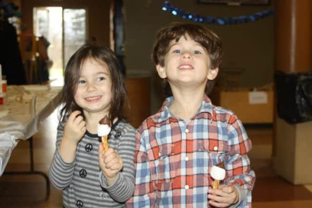 Children enjoying Rosenthal JCC's 2012 Hanukkah Celebration.