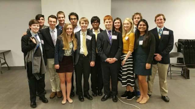 John Jay High School's Model United Nations leaders organized the school's second annual Model UN conference, hosting approximately 200 students from 13 area schools.