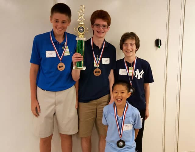 John Jay Middle School's MathCounts team represented the district at the Museum of Mathematics Tri-State Area Tournament of Champions and finished in third place.