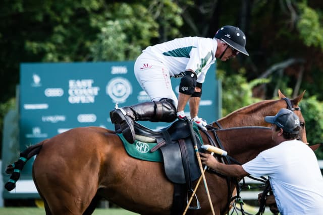 Mariano Aguerre will be back in the saddle playing for the White Birch team when polo returns to Greenwich for the 2018 season. Photograph by Joelle Wiggins.