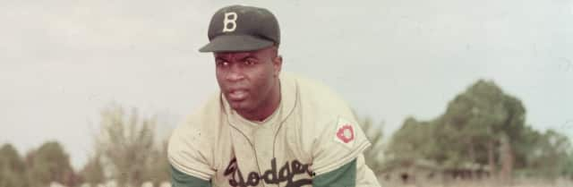"Jackie Robinson will be discussed Feb. 23 in the Bergenfield Library as part of a program about ""the color line"" in Major League Baseball in New Jersey and the United States."