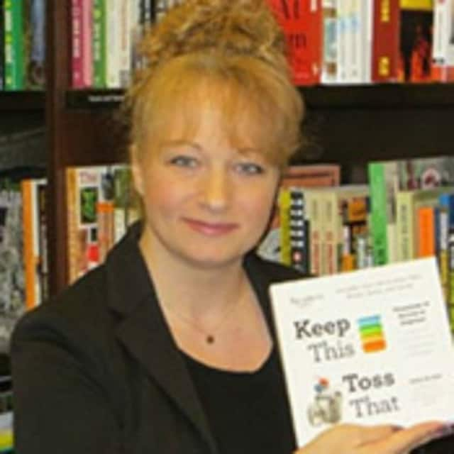 Jamie Novak, author of Keep This, Toss That will give a talk in the Teaneck Public Library Friday, Oct. 16 to cut through the excuses that keep you from getting organized.
