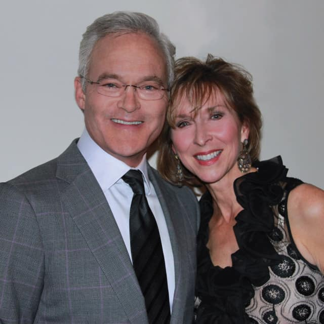 Scott Pelley with his wife, Jane.