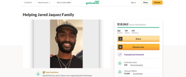 A GoFundMe created for Jaquez's family has received $18,862, passing its $10,000 goal.