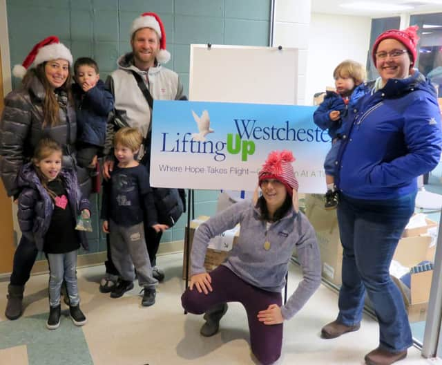 Scarsdale resident Jen Premisler and friends at a Lifting Up Westchester event.