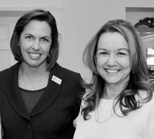 Jennifer Ryan Sasfel and CarlLa Horton of Hope's Door.