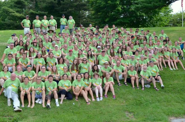 Participants in Jesse Lee ASP's 2015 mission trip gathered for a group photo upon their return into Ridgefield last July.