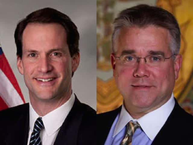 In the race for the 4th Congressional District, Republican challenger John Shaban, right, is taking on four-term Democratic incumbent Jim Himes, left.