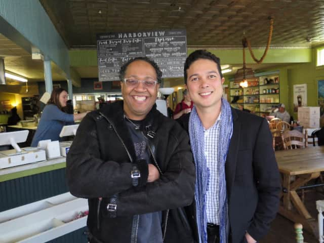 Musicians Joel A. Martin and Rick Reyes will perform at Footsteps of Peace on Friday at The Klein in Bridgeport.