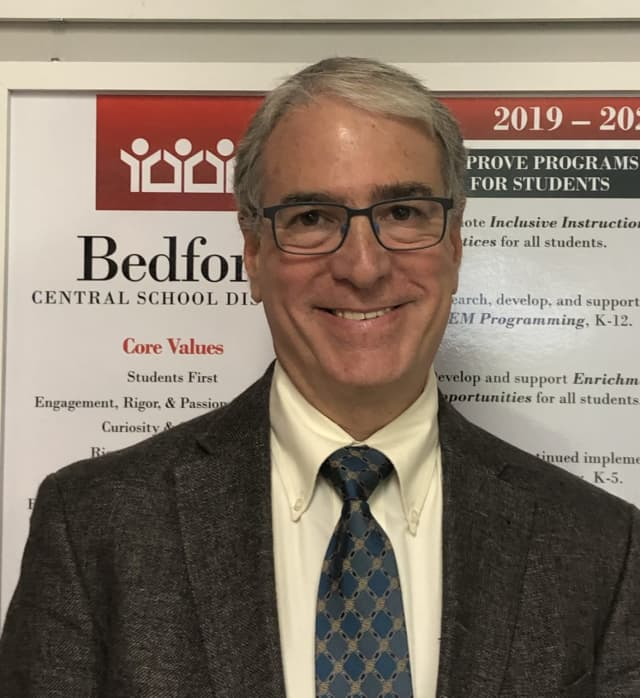Dr. Joel Adelberg is the new superintendent of schools at Bedford Central School District.