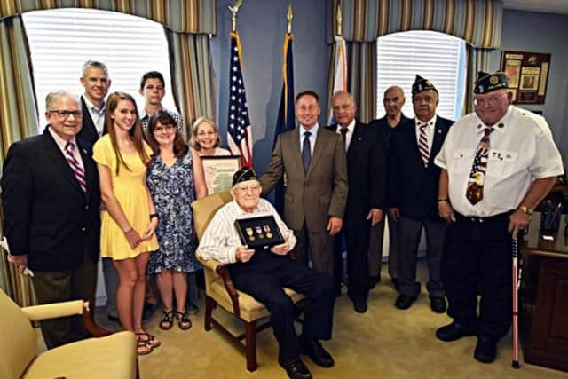 John Politi recently received the medals from his World War II service.