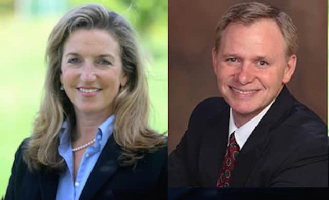 Incumbent Democrat Julia Pemberton is facing a challenge from Republican Eric Witt in the race for Redding first selectman.
