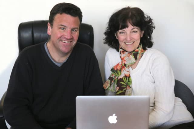 Julie and Dennis Roche, the founders of Pelham-based Burbio.
