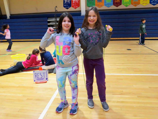Students at Todd Elementary School in Briarcliff Manor participated in heart-healthy activities as part of the American Heart Association's Jump Rope for Heart initiative.