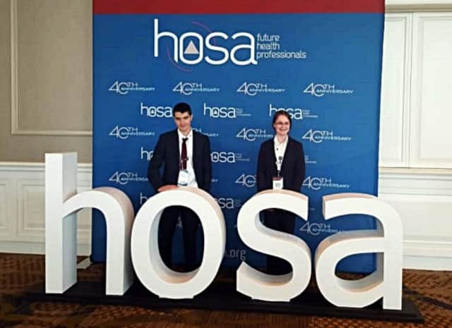 Junior Peter Manthey and sophomore Katie Mahoney attended a leadership conference in June.