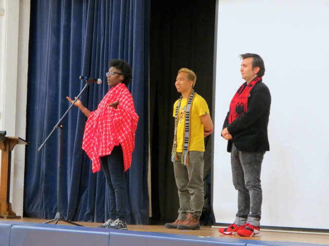 Katonah Elementary School students recently completed a three-day program with international SOUL Singers from Albania, Kenya and Malaysia.