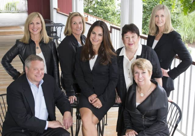 Members of KMS Partners are: (seated left to right) David Weber, Kim Harizman and Laurie Morris and (standing left to right) Karen Scott, Mary Ellen Gallagher, Sheila Keenan and Susan Seath.