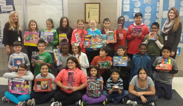 Students at Kensico School in Valhalla collected toys to donate to the Toys for Tots Foundation.