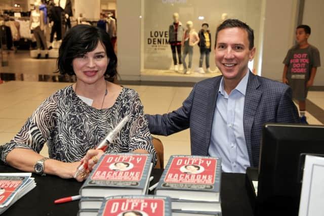 "Karen ""Duff"" Duffy with Dr. Mark Geller, CEO of Nyack Hospital."