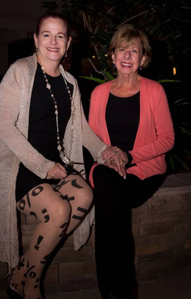 Dr. Karen Karsif, medical director of The Center for Breast Health at Good Samaritan Hospital (left), and breast cancer survivor Phyllis Eig.