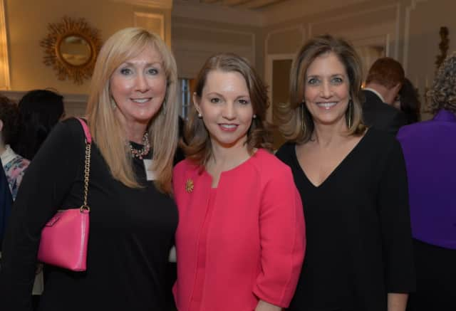 White Plains Hospital President and CEO Susan Fox (center) with Friends of WPH Co-Presidents Kathy Winterroll (left) and Wendy Berk (right).