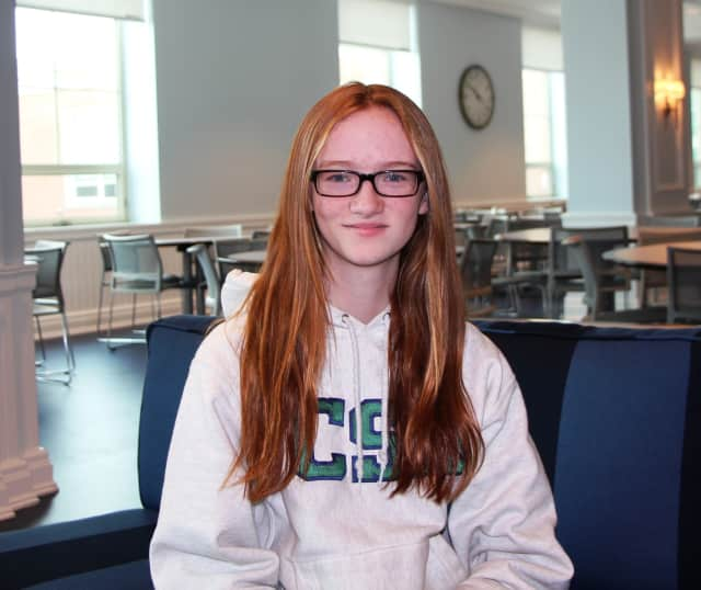 """Cathleen """"Katie"""" O'Shea of Rye, a seventh grade student at Convent of the Sacred Heart, won a Gold Key Scholastic Writing Award. She was honored on Sunday during a ceremony at Manhattanville College."""