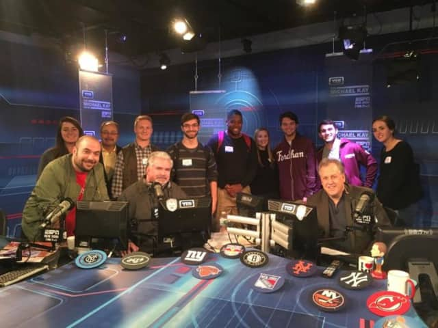 Fordham University Students got to tour ESPN Radio on Wednesday.