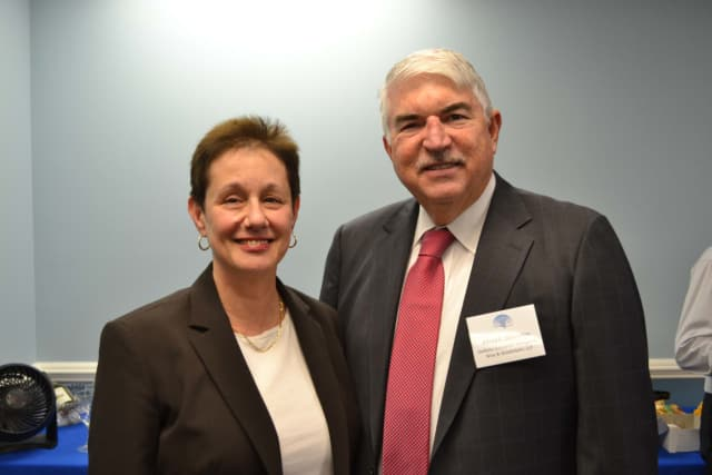 Legal Services of the Hudson Valley CEO Barbara Finkelstein with Al Donnellan, the group's board chair and managing partner at DelBello Donnellan Weingarten Wise & Wiederkehr.
